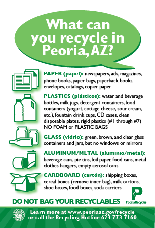 What Can You Recycle in Peoria AZ