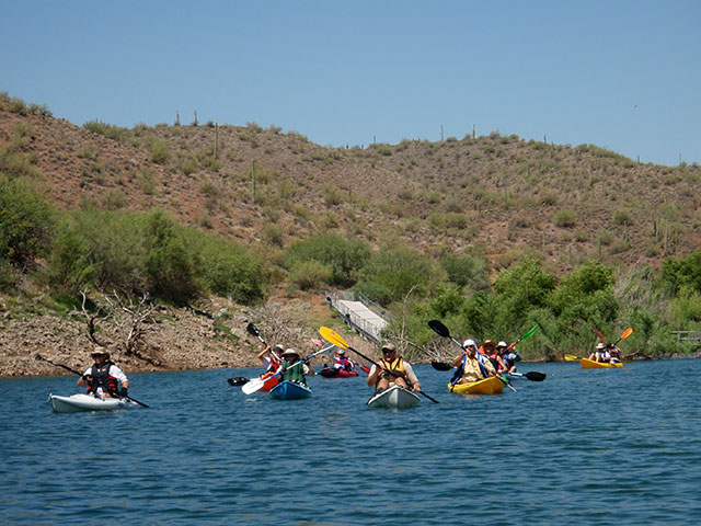 Kayaking at Lake Pleasant