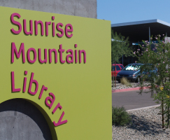 Sunrise Mountain Library sign