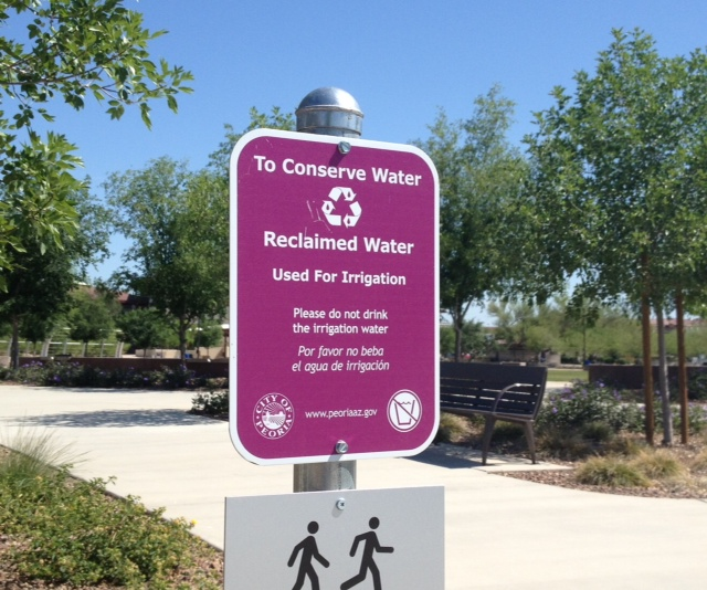 Reclaimed Water Sign_Centennial Plaza