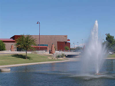 Lake and Fountain