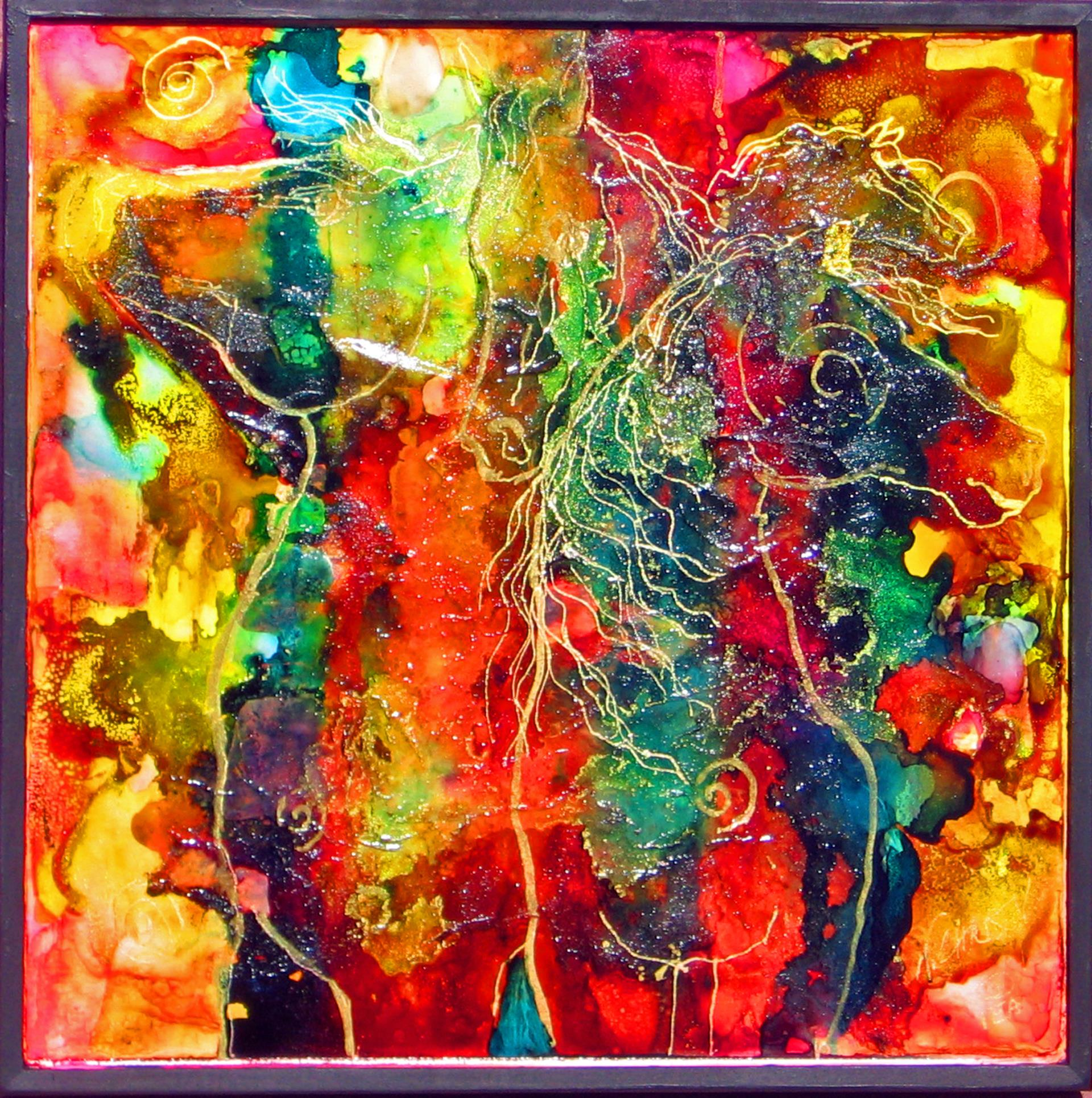 6b Nancy Christy-Moore - Electric Rodeo - mixed media