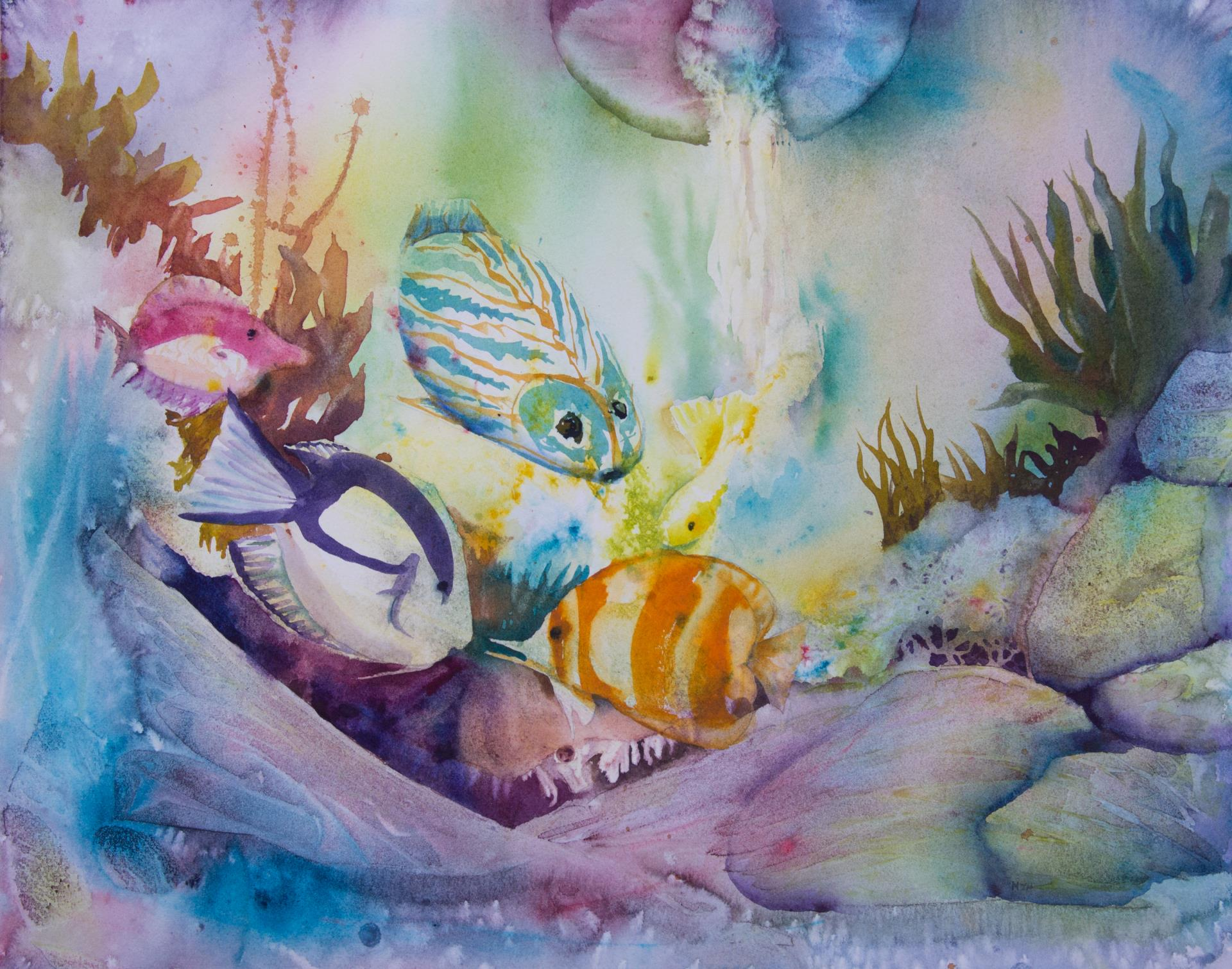 16b Melanie Harman - Under the Deep - watercolor