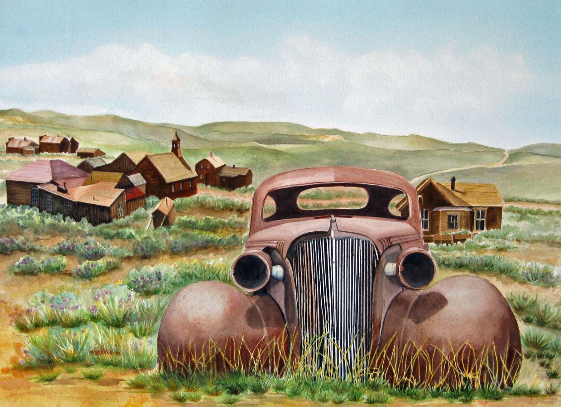 19b Joyce Baldwin - Abandoned iBodie . watercolor