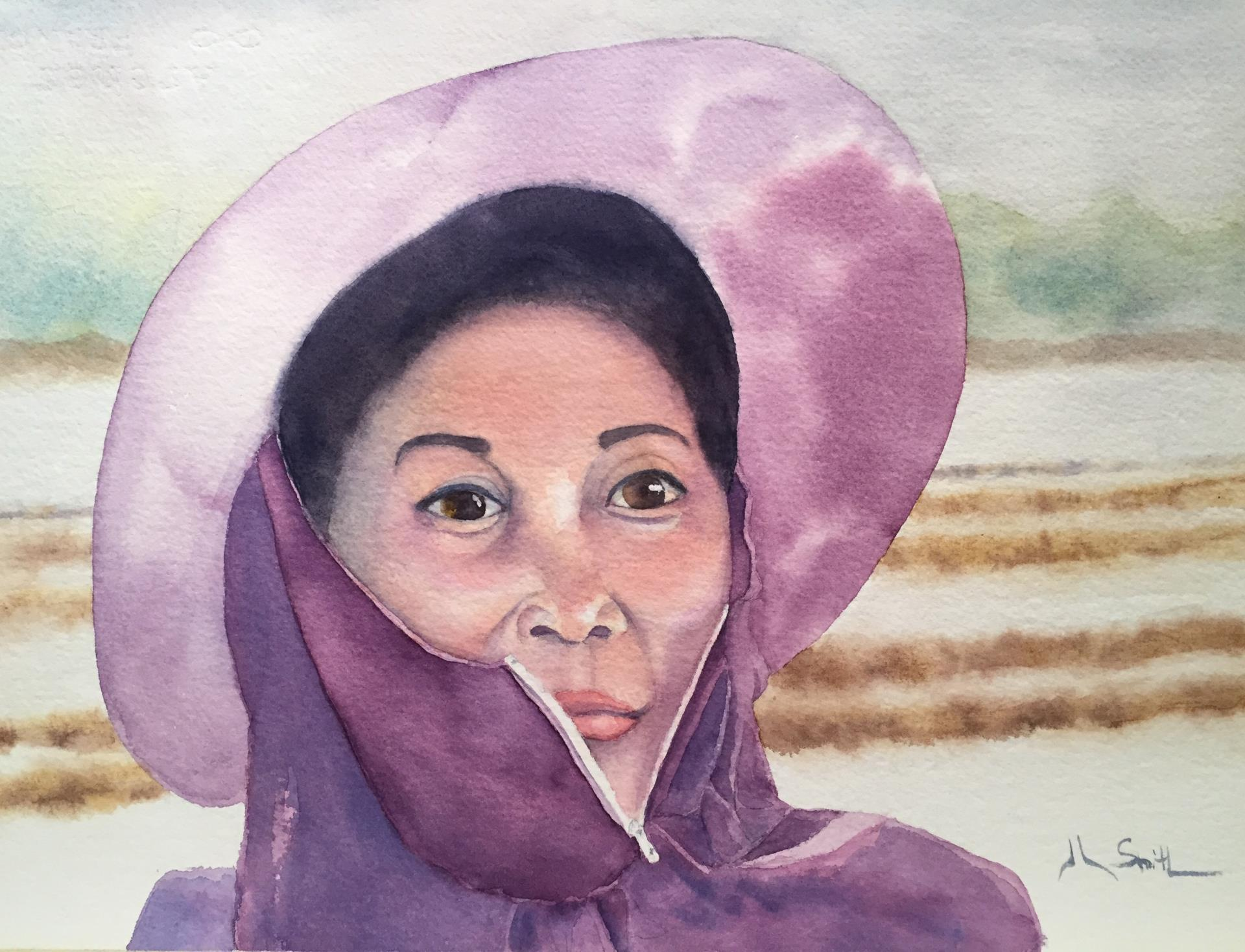 21a Jerre Smith - Thai Sea Salt Merchant - watercolor