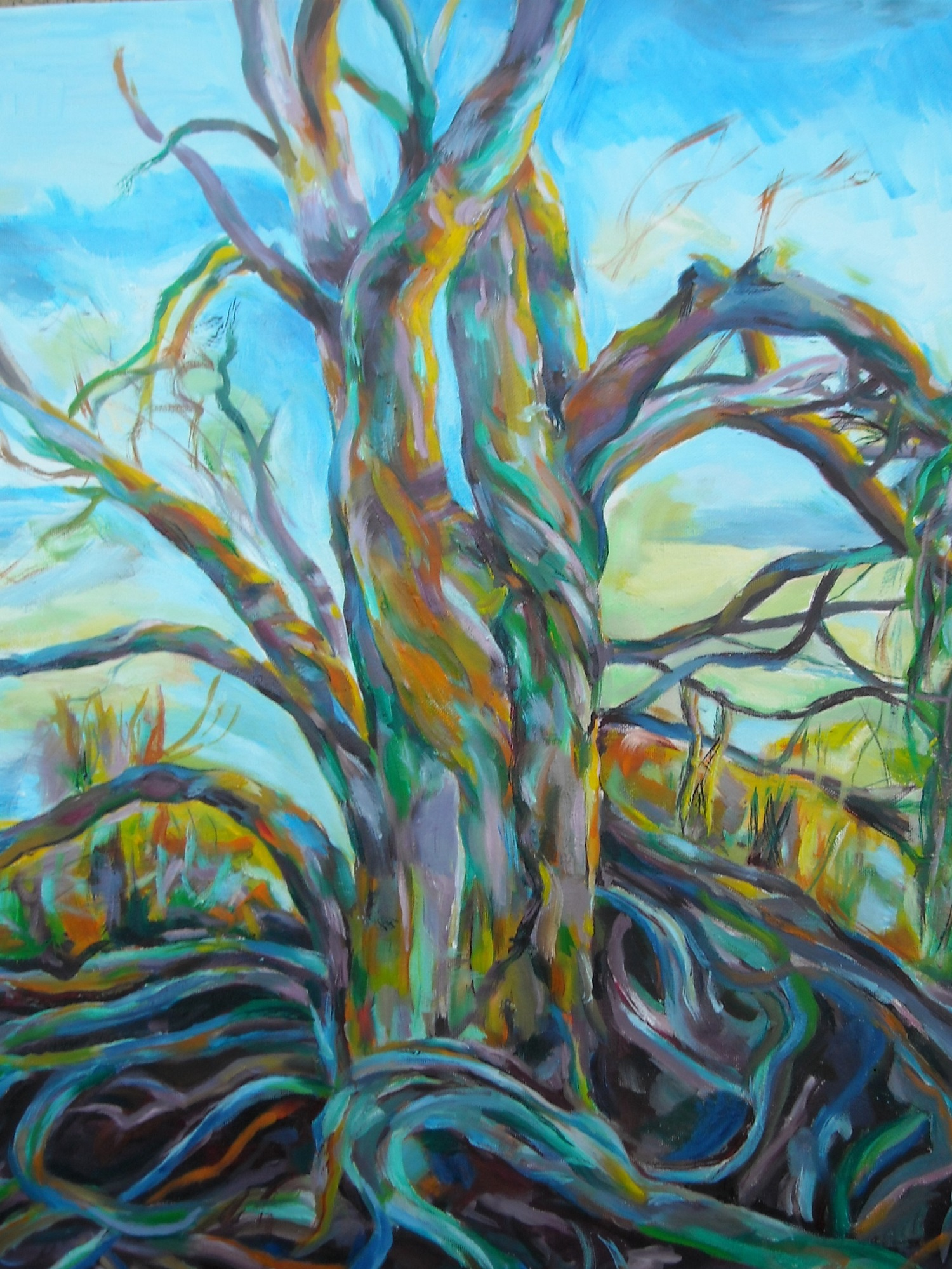 24a Joan McGue - Walking Tree - oil