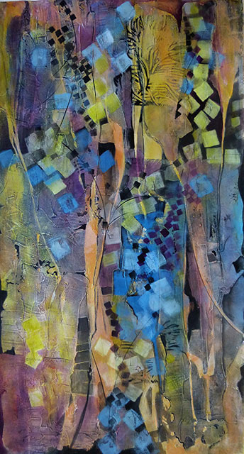25b Dyanne Locati - Threads in the Sun - acrylic