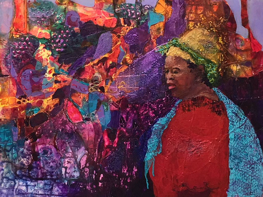 26b Sue Hunter - Mardi Gras - acrylic