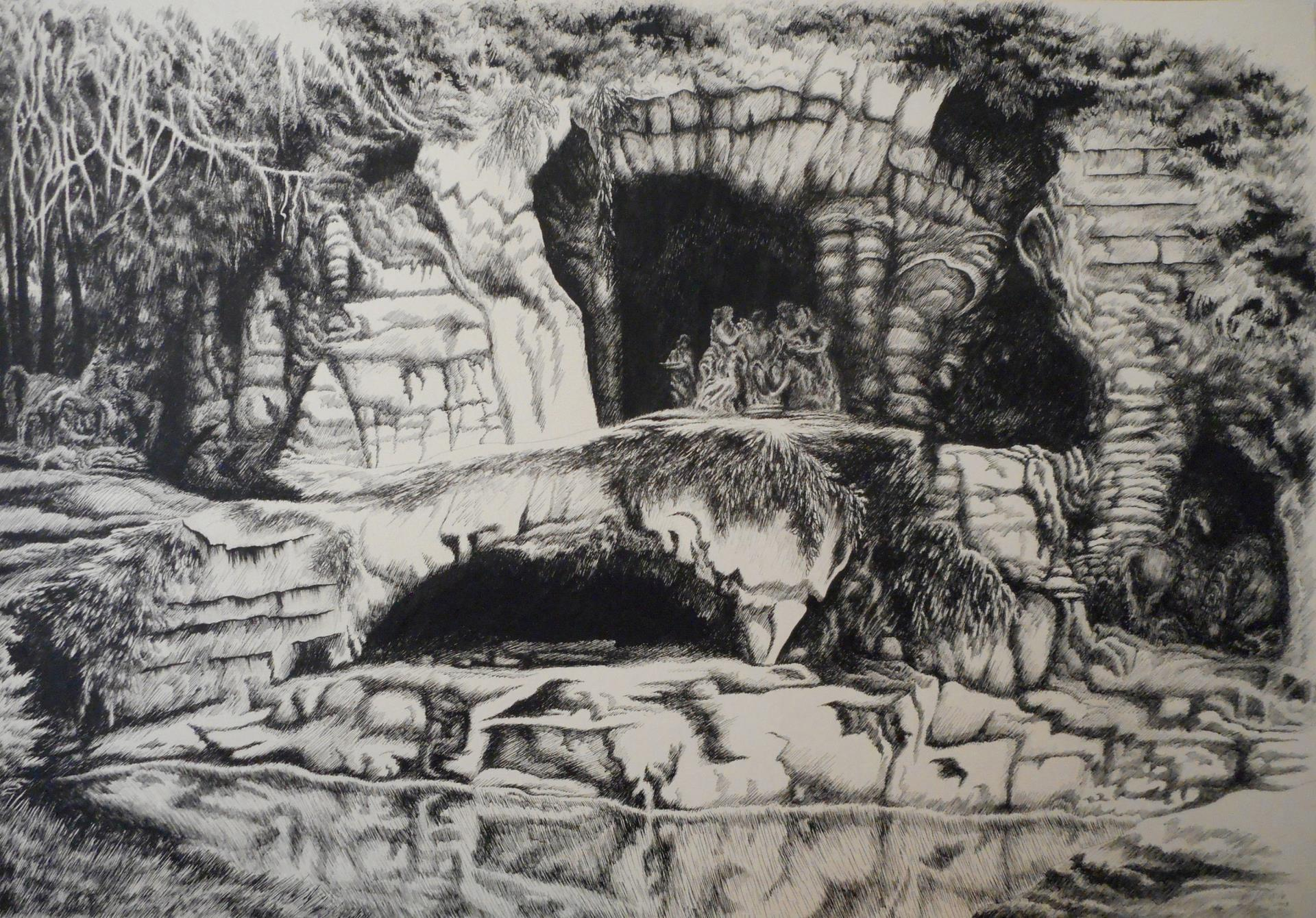 44a Victoria Blaker - In A Grotto - mixed media