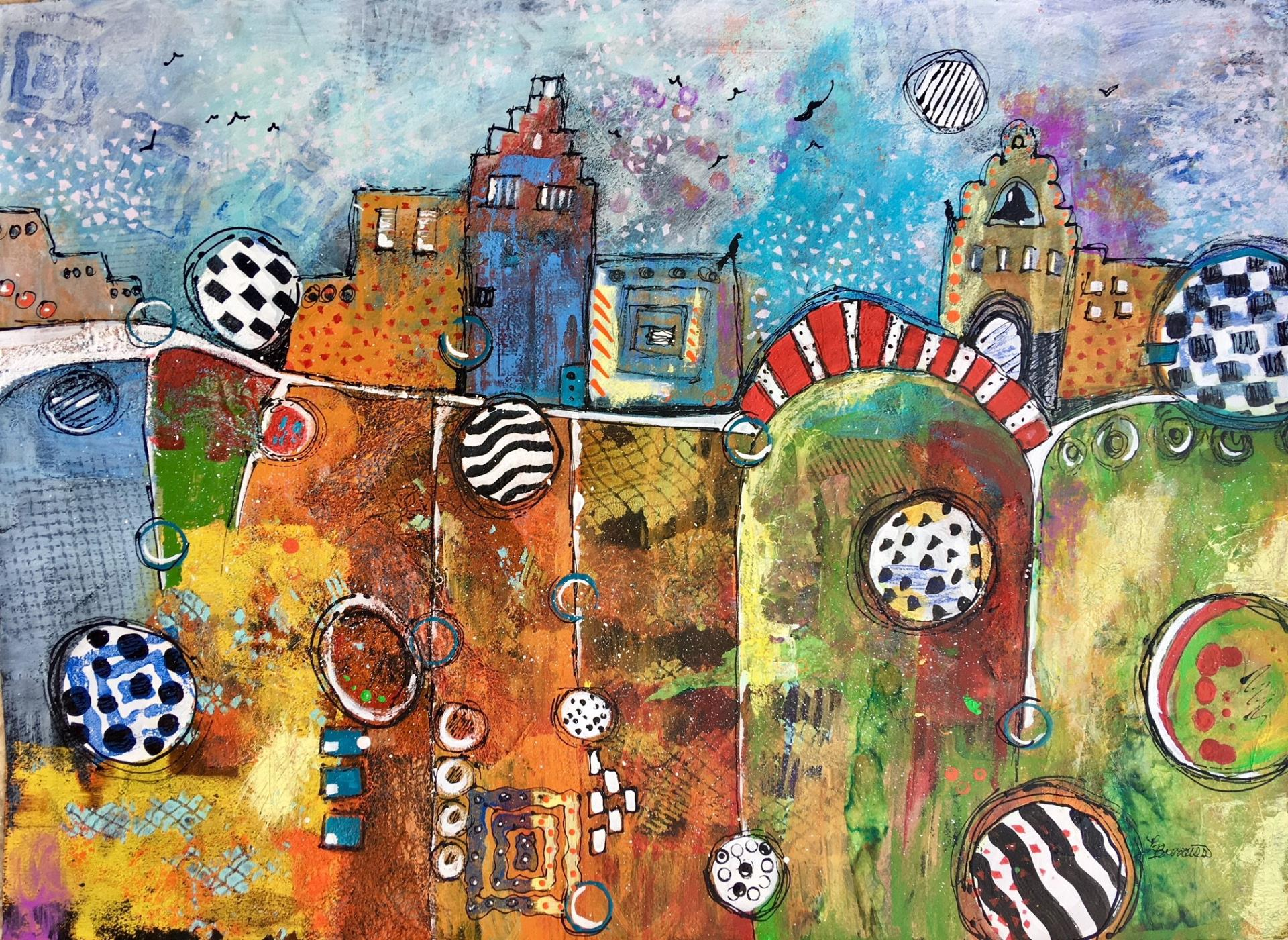 51a Lynda Burruss - Circleville - mixed media