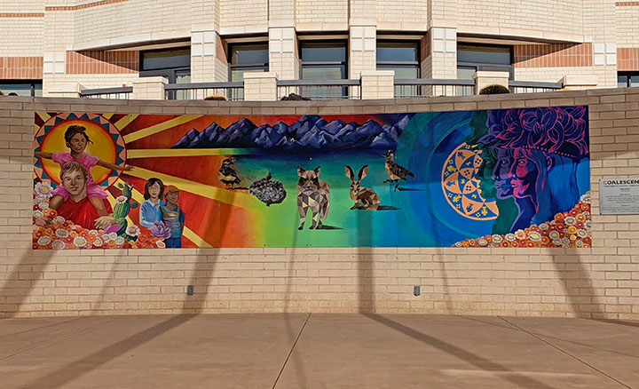 Coalesce Mural at Peoria City Hall