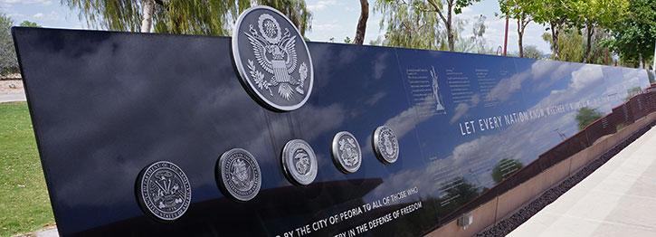 Peoria Veterans Memorial Wall