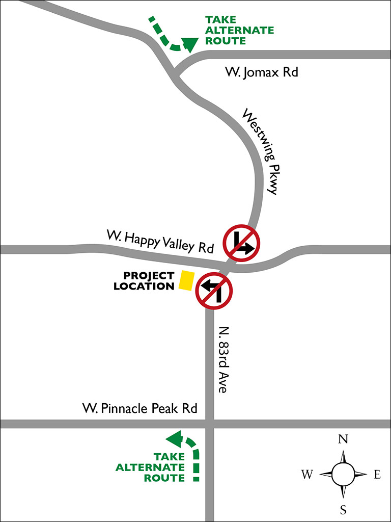 83rd-Ave-Happy-Valley-Turn-Restrictions