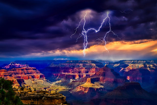 Keith Dines - Grand Canyon Storm (photo)