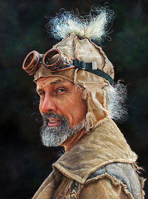 Barbara Dahlstedt - Wyld Man (colored pencil)