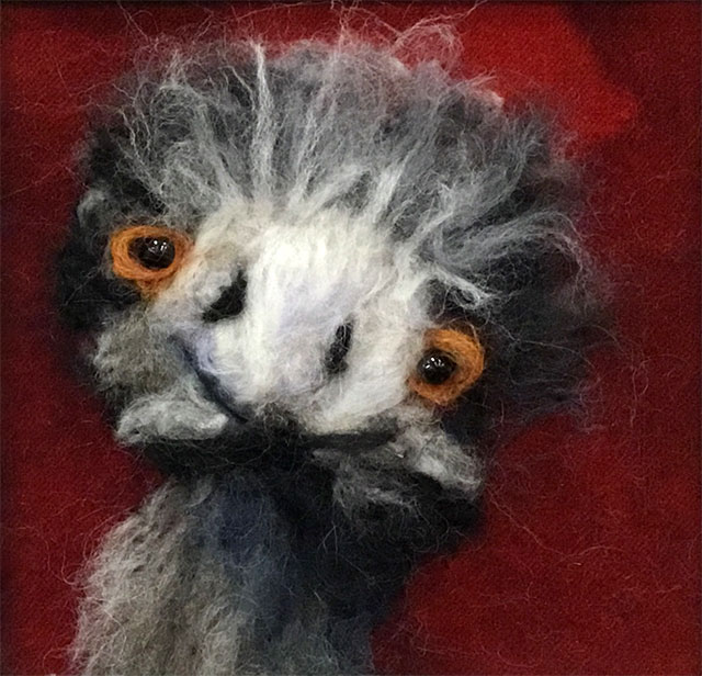 Anna Marie Peterson - Emu (mixed media)